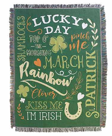 Lucky Day Tapestry Throw Blanket