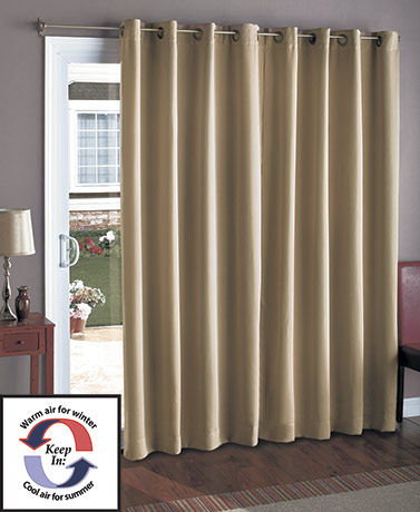 "112"" Extra Wide Blackout Curtain for Patio Door"