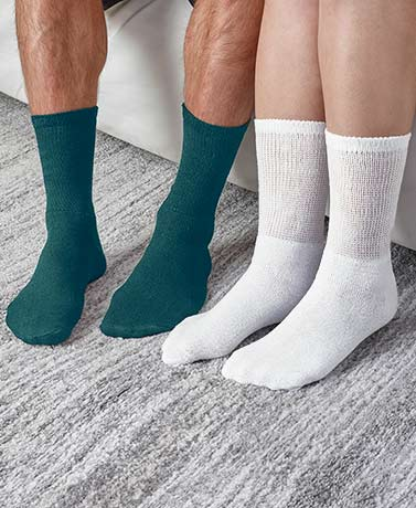 7-Pair Diabetic Socks for Men or Women