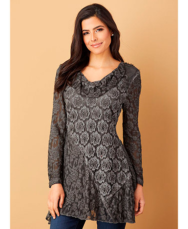 Lace Cowl Tunic