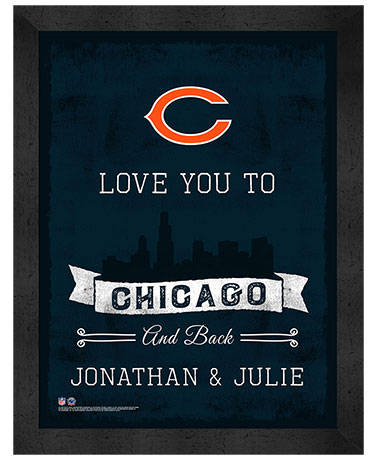 Personalized NFL Town Love Wall Art