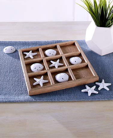 Coastal Tic-Tac-Toe Board Game Set