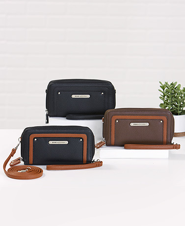 Stone Mountain Leather RFID Crossbody Wallets