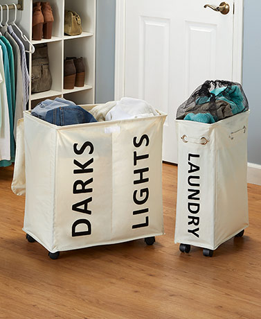 Rolling Laundry Hampers