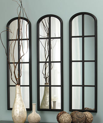 Set Of 3 Arched Mirrors