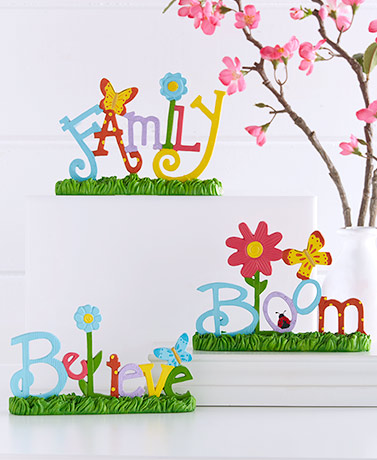 Spring Word Tabletop Signs