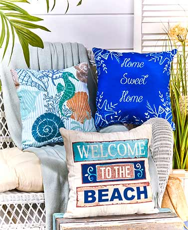 IndoorOutdoor Coastal Pillows