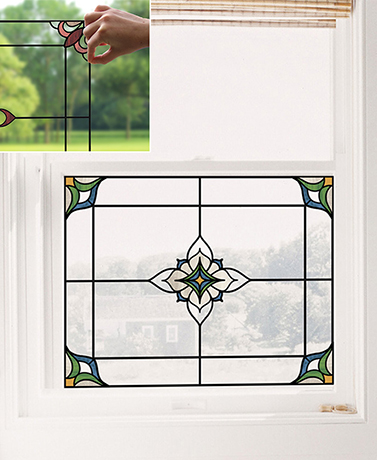 Stained Glass Window Appliqués or Decal Sets