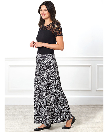 Women's Easy-Fit Knit Maxi Skirts
