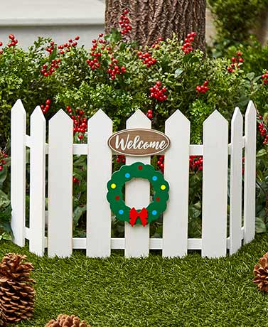 Seasonal Fence Garden Decor