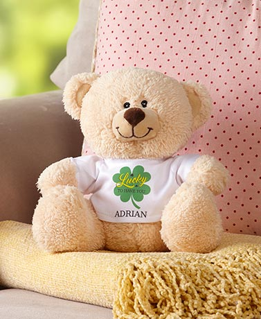 Personalized Shamrock Bear