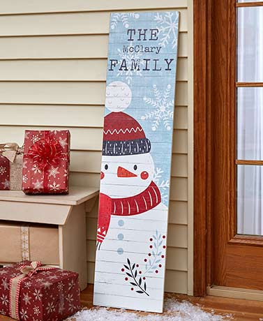 Personalized Holiday Leaning Signs