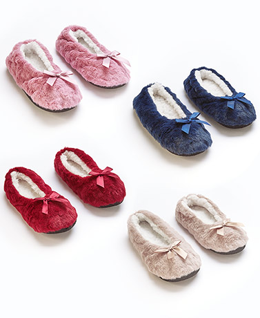 2-Pk. Cozy Slippers