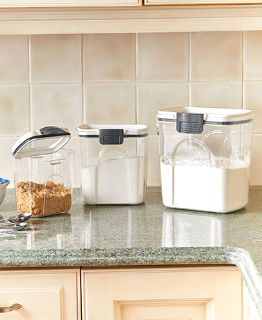 Set of 3 Locking Lid Canisters