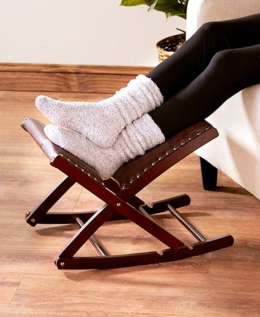 Foldable Upholstered Rocking Footrests