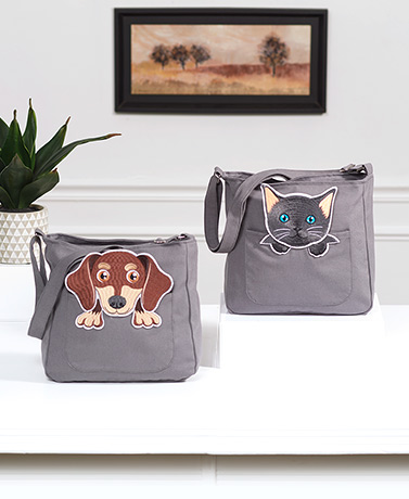 Canvas Animal Crossbody Bags