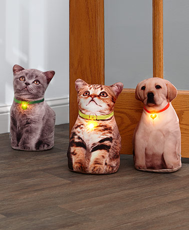 Lighted Kitten or Puppy Doorstops