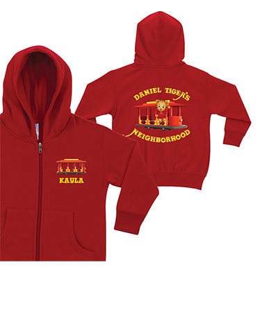 Daniel Tiger's Neighborhood Personalized Hoodies