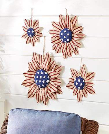 Americana Sunflower Wall Hangings