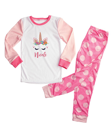 Happy Unicorn Personalized Pajamas