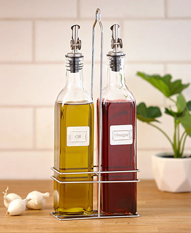 3-Pc. Oil and Vinegar Caddy Set