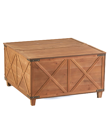 Barn Door Coffee Tables with Storage