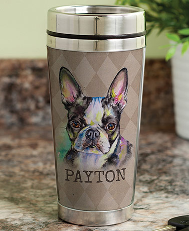 Personalized Dog Breed Travel Mugs