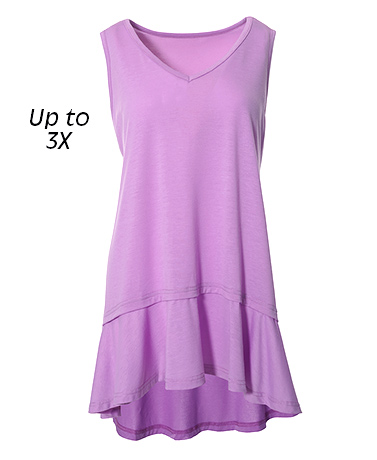 Stylish Knit Ruffle Hem Tunics