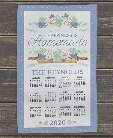 Personalized Calendar Kitchen Towels