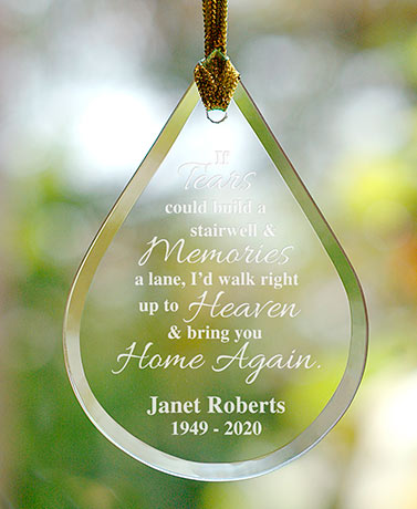 Personalized Glass Memorial Ornament