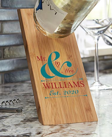 Mr. & Mrs. Personalized Wine Bottle Holder