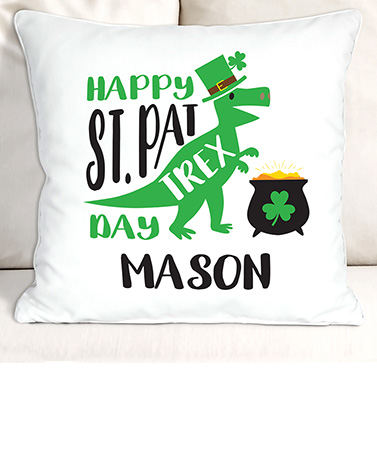 St. Pat Trex Day Personalized Throw or Pillow