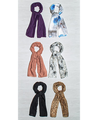 Sets of 2 Lightweight Fashion Scarves