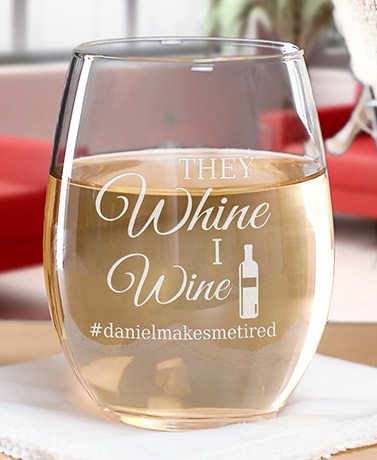 Personalized Wine Hashtag T-Shirts or Glasses