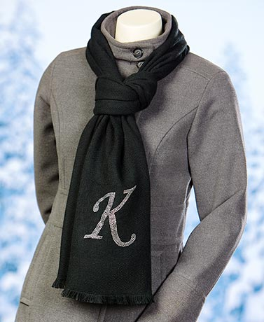 Bling Embellished Monogram Scarves