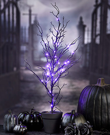 3-Ft. Spooky Lighted Halloween Tree