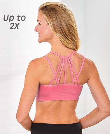 Set of 3 Strappy-Back Padded Bralettes