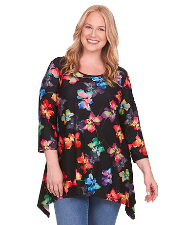 Super-Soft Floral Printed Tunic