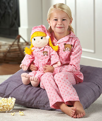 Matching PJ's And Plush Set