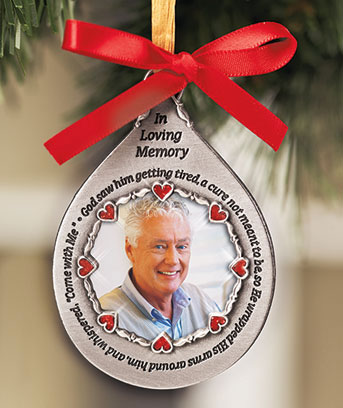 Male Photo Memorial Ornament