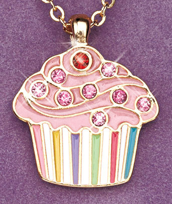 Birthstone Cupcake Necklaces